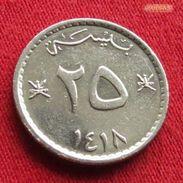 Oman 25 Baisa 1997 / 1418 KM# 45a  Omã - Oman