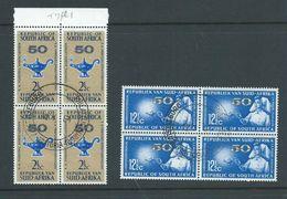 South Africa 1964 Nursing Association 2.5c & 12.5c Blocks Of 4 FU - South Africa (1961-...)