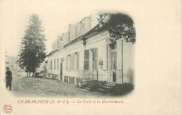"""CPA FRANCE 91 """" Chamarande, La Poste Et La Gendarmerie"""". - France"""