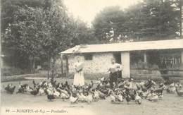 """CPA FRANCE 91 """"Bligny, Le Poulailler"""". - France"""