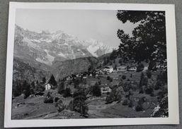 Foto Cartolina Montagna Località Valle D'Aosta Panorama Databile Intorno Al 1950 - Photographs