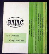 Catalogo Macchine Agricole - Catalogue BAJAC - Charrues - 1950 Ca. - Non Classificati