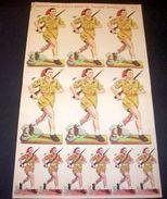 Marca Stella Foglio N° 7 Bersaglieri Esercito  1930 - Giocattoli Antichi