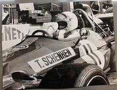 Automobilismo Fotografia - Tim Schenken 11 - Brabham Ford BT 34 - 1971 Formula 1 - Fotografia