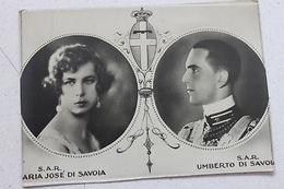 Fotocartolina Maria Jose Di Savoia E Umberto Di Savoia 1930 Ca - Photos