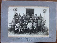 Foto Epoca Militaria Ufficiali 7° Reparto Bersaglieri 1915 WWI Brescia - Fotografia