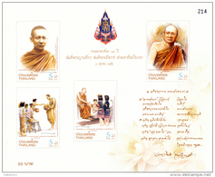 THAILAND - 2013 - Mi BL. 317A - CENTENARY OF THE SUPREME PATRIARCH OF THAILAND - S/S - MNH ** - Thailand