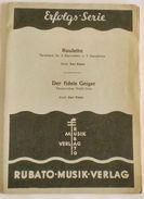 Musica Spartito  - Roulette - Der Fidele Geiger - Pianoforte - Karl Eisele - Old Paper