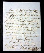 Lettera Autografo Carlo Berti Pichat 1850/1860 - Autographs