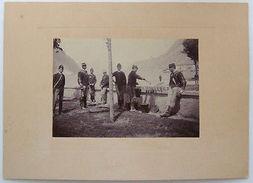 Foto Epoca Militaria Reggimento Cavalleria Rancio 1880 - Fotografia