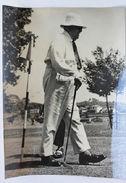 Fotografia D'epoca Aga Khan III A Cannes 1952 Corso Golf - Photographs