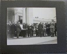 Foto Epoca Re Vittorio Emanuele III Con Giovanni Gentile (?) Anni '30 - Fotografia