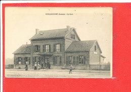 80 GUILLAUCOURT Cpa Animée La Gare - France