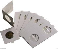 Paquet 25 Cartons Pour Pièces De Monnaies,cache Monnaie, étuis; Hartberger à Agrafer 39,50 Mm - Supplies And Equipment