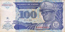 ZAIRE 100 NOUVEAUX ZAIRES 1994 P-60a VF  [ZR141d] - Zaire