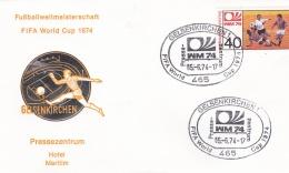 Germany Cover 1974 World Cup FIFA Football Germany - Gelsenkirchen Pressezentrum (DD8-39) - Coppa Del Mondo