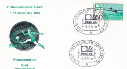 Germany Cover 1974 World Cup FIFA Football Germany - Frankfurt Am Main  Pressezentrum (DD8-39) - Coppa Del Mondo