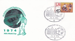 Germany Cover 1974 World Cup FIFA Football Germany - Frankfurt Am Main (DD8-39) - Coppa Del Mondo