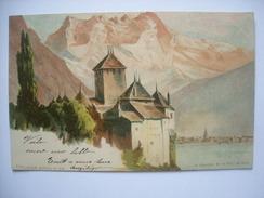 (Alpes Suisses) Killinger N° 125: Le Coucher De La Dent Du Midi, 1898, état SUP. - Illustrateurs & Photographes