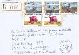 Tchad 2005 Doba Prehistory Toumai Skull 150f President Opening Oil Pipeline 350f Registered Cover - Tsjaad (1960-...)