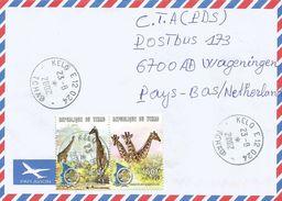 Tchad 2002 Kelo Giraffe Scouting Cover - Tsjaad (1960-...)