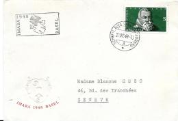 "54 - 42 - Enveloppe Avec Oblit  Spéciale ""Imaba 1948 Basel"" - Marcofilie"