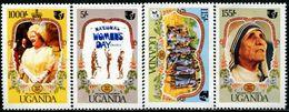 BN1640 Uganda Women's Conference 1985 Mother Teresa 4V MNH - Famous People