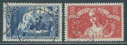 FRANCE 1935 Y&T 307 Et 308 Oblitérés - AU PROFIT DES CHÔMEURS INTELLECTUELS - Francia