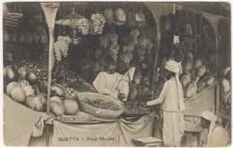 Quetta - Fruit Market - R.W. Rai & Sons. (Publishers)  Quetta - India - India