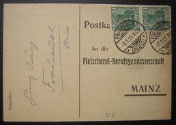 1921 An Die Fleischerei-Berufsgenossenschaft Mainz - Deutschland