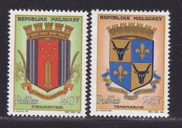 MADAGASCAR N°  391 & 392 ** MNH Neufs Sans Charnière, Insectes, TB  (D0873) - Madagascar (1960-...)