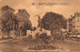 Antwerpen  Anvers   Baron Dhanis  Gedenkteken Standbeeld Monument   Soldaat  Amerikalei   X 3064 - Antwerpen