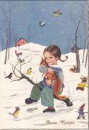 AUGURI FESTE - Buon Natale - Merry Christmas - Feliz Navidad - Joyeux Noël - Frohe Weihnachten - Bambina Con Scoiattolo - Non Classificati