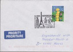 3213   Carta Austria Prioritaire  , Fechador Especial  2000 ,St. Polten Partnerkongress - 1945-.... 2ème République