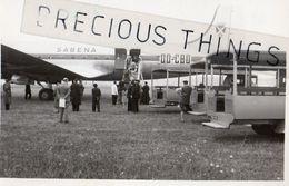 OSSUN  65  PHOTO AVIATION FORMAT CARTE POSTALE  L AEROPORT  AOUT 1949  AVION SABENA  LIRE CORRESPONDANCE - Ossun
