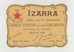 BUVARD IZARRA VIEILLE LIQUEUR DE LA COTE BASQUE - Liqueur & Bière