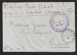 Haut Rhin -  Cachet Provisoire  LUTTERBACH - Marcophilie (Lettres)
