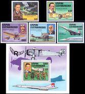 CENTRAFRIQUE Bf 019, 305/09 Avions , Concorde , Blériot , Santos-Dumont , Lindbergh - Airplanes