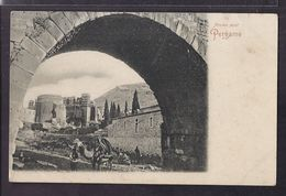 CPA TURQUIE - PERGAME - Pergame - Ancien Pont - TB PLAN EDIFICE - ANIMATION Personnage Avec Chameau - Turquie