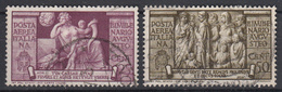 ITALIË - Michel - 1937 - Nr 586/87 (SELECTIE) - Gest/Obl/Us - Cote 9.00€ - 1900-44 Vittorio Emanuele III