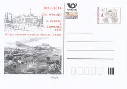 Tschech. Rep. / Ganzsachen (Pre2014/16) Ankunft Des Ersten Zuges In Breclav Und Brno (1839), 175-jähriges Jubiläum - Brücken