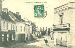(80) - PICQUIGNY : LA RUE DE LA GARE  SEL-234X - Picquigny