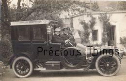 ROYAT 63  CARTE PHOTO  SOUVENIR DE  .......  VOITURE DE LUXE  TAXI  EN JUILLET 1913 - Royat
