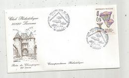Timbre, Cachet Commémoratif Exposition Philatélique Et Mycologique ,Indre , LEVROUX ,1991 , Porte De Champagne - Marcophilie (Lettres)
