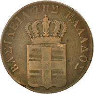 Grèce, Othon, 10 Lepta, 1837, TTB, Cuivre, KM:17 - Grèce