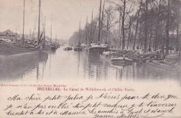 Bruxelles Le Canal De Willebroeck Et L'Allée Verte Circulée En 1903 - Transport (sea) - Harbour