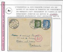 Allemagne III Reich  Lettre Par Avion Du   14  Février   1943    De   Oberdorf  Vers Châlons Sur Marne - Deutschland