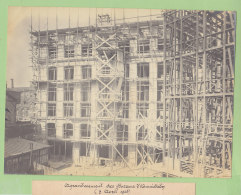 PARIS, Rue Ambroise Paré, Construction Bureaux Cie Chemins Fer Du Nord, 1908. Quadruplement Ligne Paris.Photo Originale - Treinen