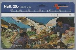 Telefoonkaart. BETEL. Floating Market, Curacao. Nafl. 25,-. - Telefoonkaarten