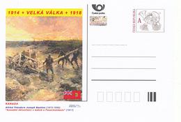 """Tschech. Rep. / Ganzsachen (Pre2014/21) Erster Weltkrieg (WWI) Kanada: Alfred Bastien """"Kanadische Kanonier Im Schlamm"""" - Briefe"""